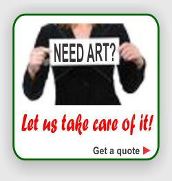 Don't let art prep issues bog you down. Send us what you have and we'll set your art problems free.