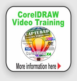 Learn to use CorelDRAW from our training CDs.