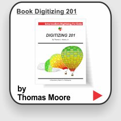 Learn advanced embroidery design techniques from Master designer Thomas L. Moore, Jr. Purchase the book Digitizing 201